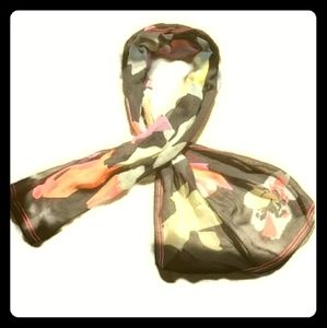 Womens beautiful black and purple scarf floral